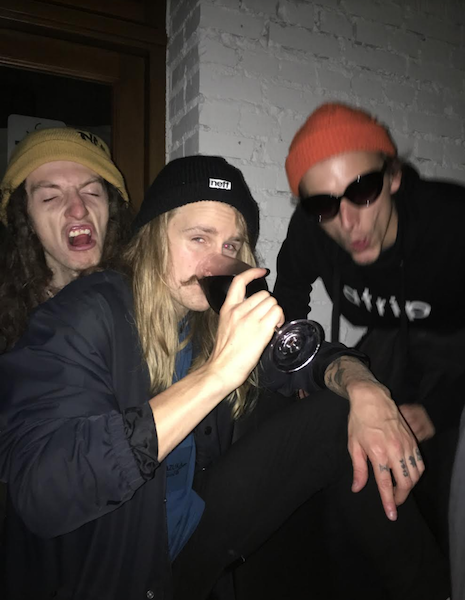 A polish bro, Halldor Helgason and Stan enjoying a fine glass of Icy Wine